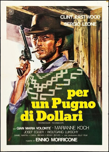 spaghetti western film posters of sergio leone and clint