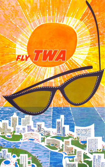 Fly TWA Florida (no text) by David Klein