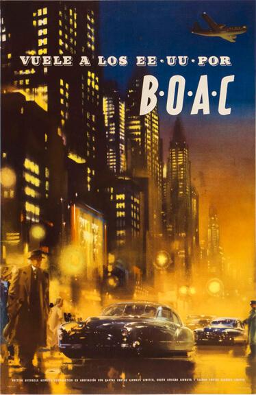 Vuele a los ee.uu.por B.O.A.C by Frank Wootton