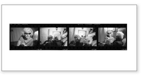 Marilyn Monroe With Carl Sandburg Contact Sheet Limited