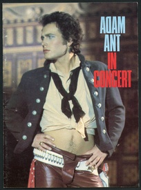 Adam Ant Friend or Foe Concert Tour Program