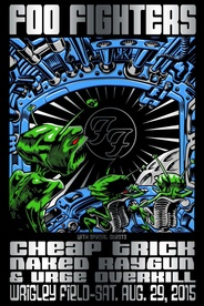 Foo Fighters Wrigley Field Foil Variant