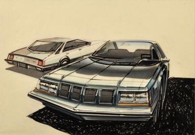 Ford Concept Car Art Original Art Limited Runs
