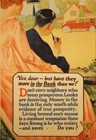 Have They More In The Bank Than We? Banking Poster