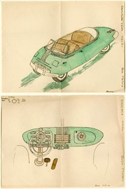Concept Car and Dashboard Drawings No. 1