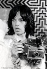 Mick Jagger on the set of Performance