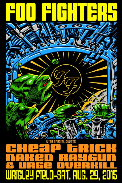Foo Fighters Wrigley Field : Rock / Gig Posters : Limited Runs