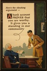 A Bank Account Proves That You Are Worthy Banking Poster