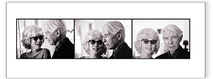 Marilyn Monroe & Carl Sandburg - Triptych (Estate Stamped)