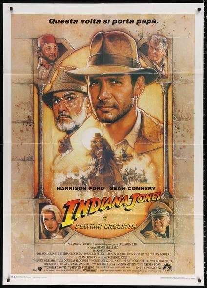 Indiana Jones print  Alternative Movie poster  Film poster The Last Crusade Original Artwork