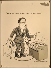 "Richard M. Nixon Watergate Mess ""How do you Turn This Thing Off?"""