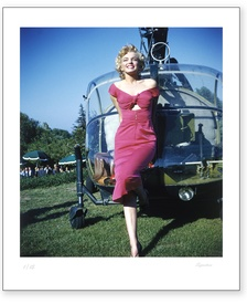 Marilyn Monroe Helicopter Arrival