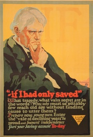 If I Had Only Saved Banking Poster