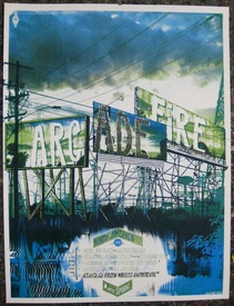 Arcade Fire: August 2010 US Tour Poster