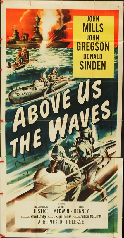 Above Us The Waves Three Sheet Movie Posters Limited
