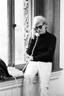 Andy Warhol on Phone