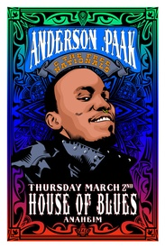 Anderson .Paak at the Anaheim House Of Blues