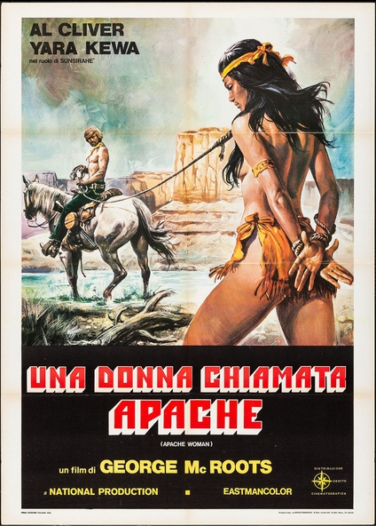 Apache Woman Old Advertising Poster reproduction