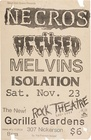 Necros / The Accused / Melvins Seattle Concert Flyer