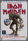 Iron Maiden Final Frontier World Tour Poster