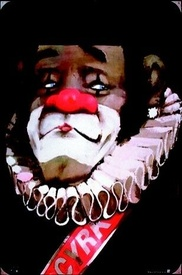 Pagliacci/Clown with ruffled collar