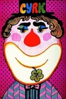 Howdy Doody clown with flower