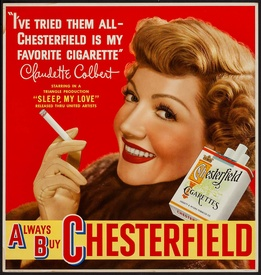 Claudette Colbert Chesterfield Cigarettes
