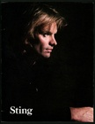 Sting Concert Tour Program