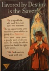 Favored By Destiny Is The Saver Banking Poster