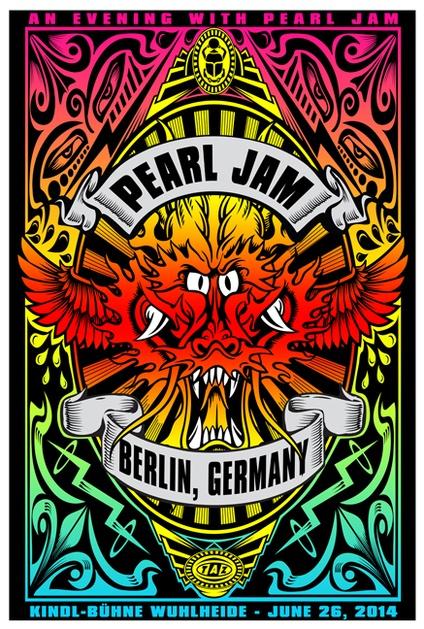 Taz Pearl Jam Rock Concert Poster Music Posters