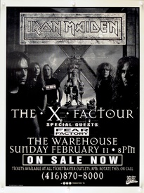 Iron Maiden The X Factor Concert Poster