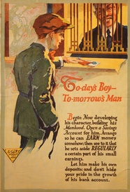 Today's Boy - Tomorrow's Man Banking Poster