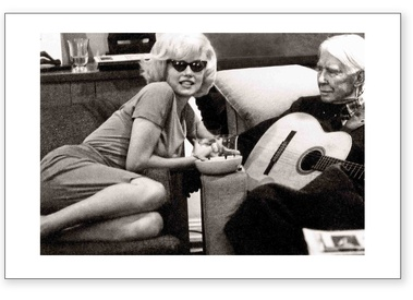 Marilyn Monroe & Carl Sandburg - Guitar (Estate Stamped)