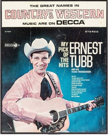 Ernest Tubb Tabletop Standee