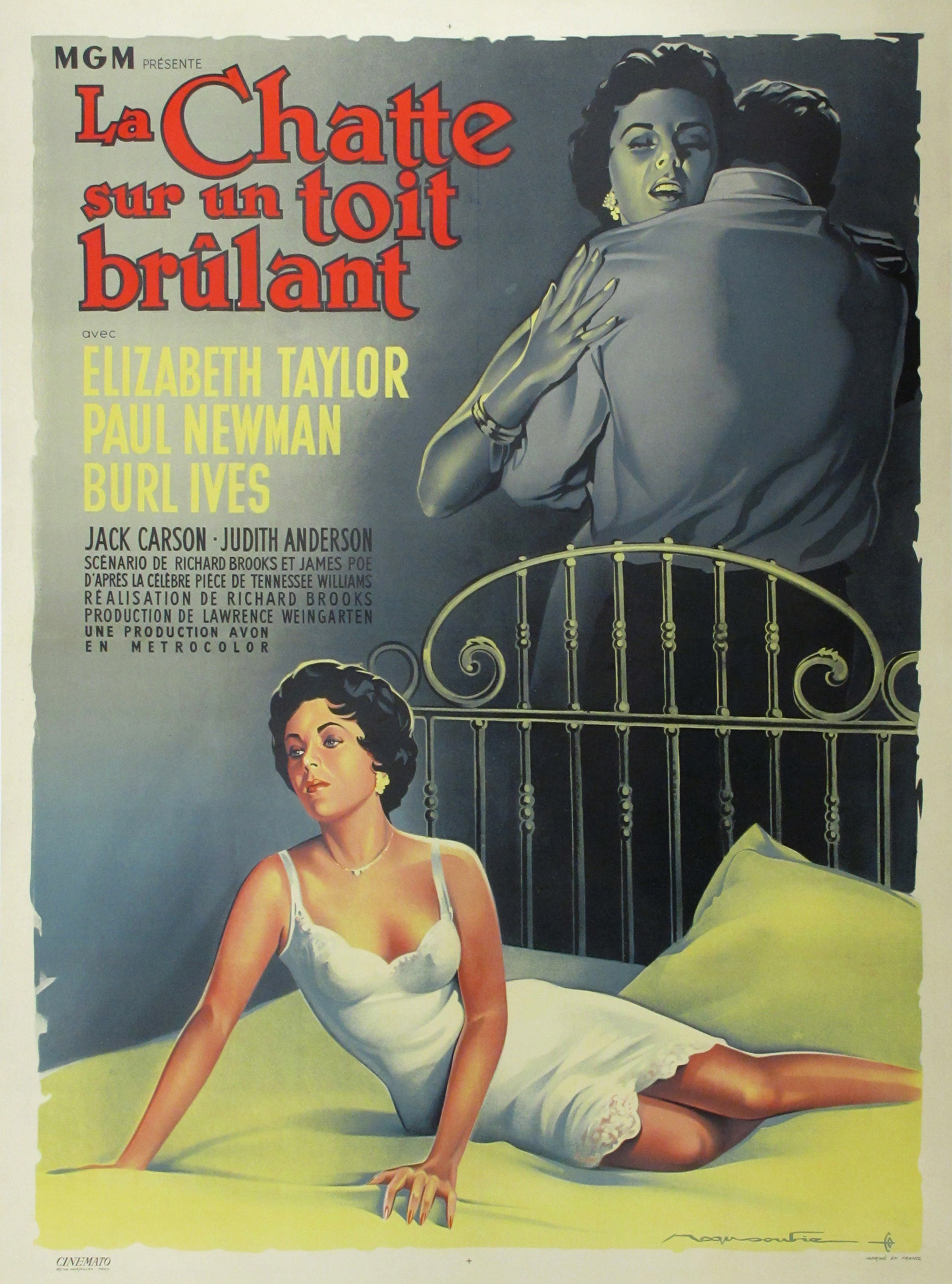 Actual Cat On A Hot Tin Roof Movie Poster By Roger Soubie Image