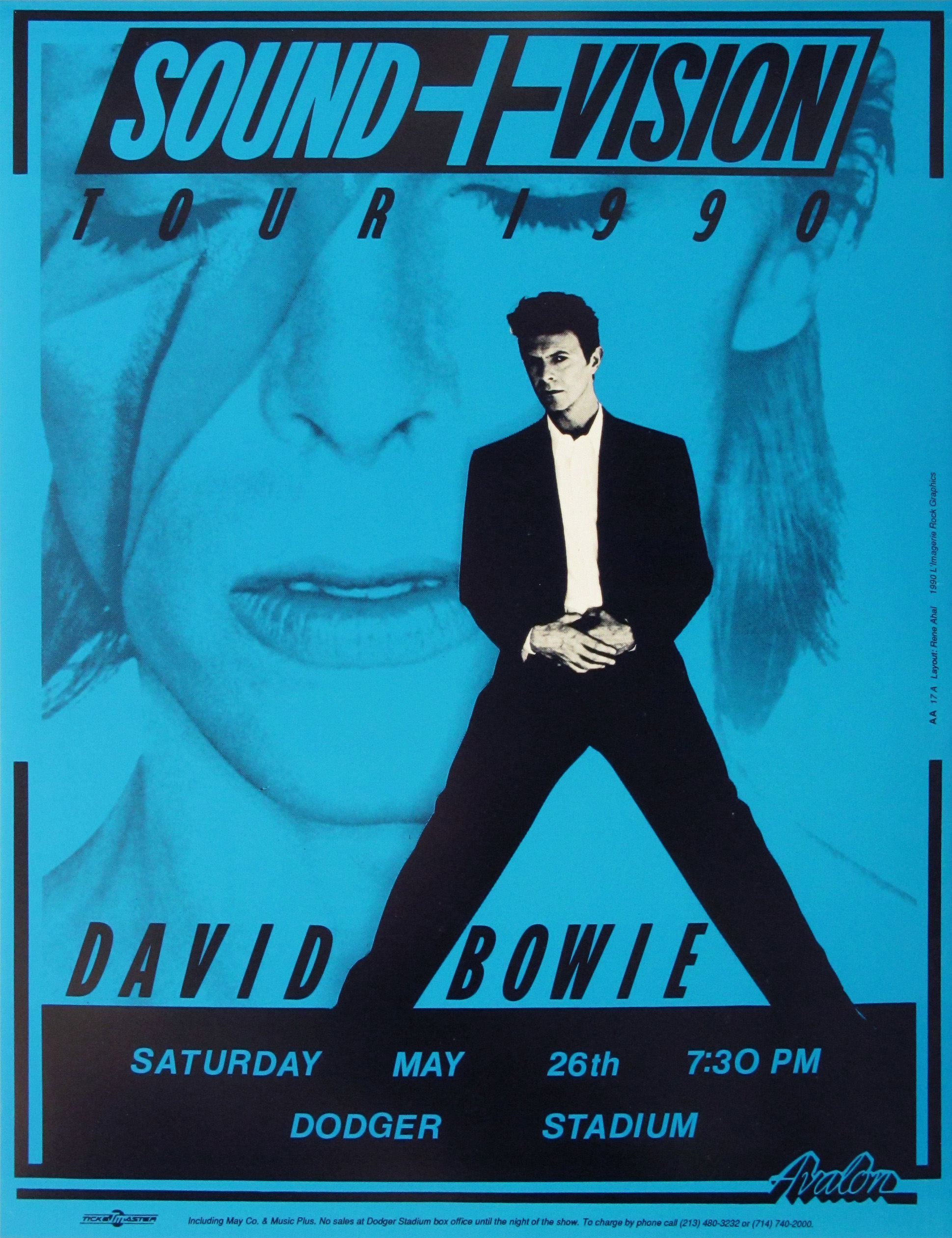 Sound Of Music >> David Bowie Concert Poster (Blue Version) | Limited Runs