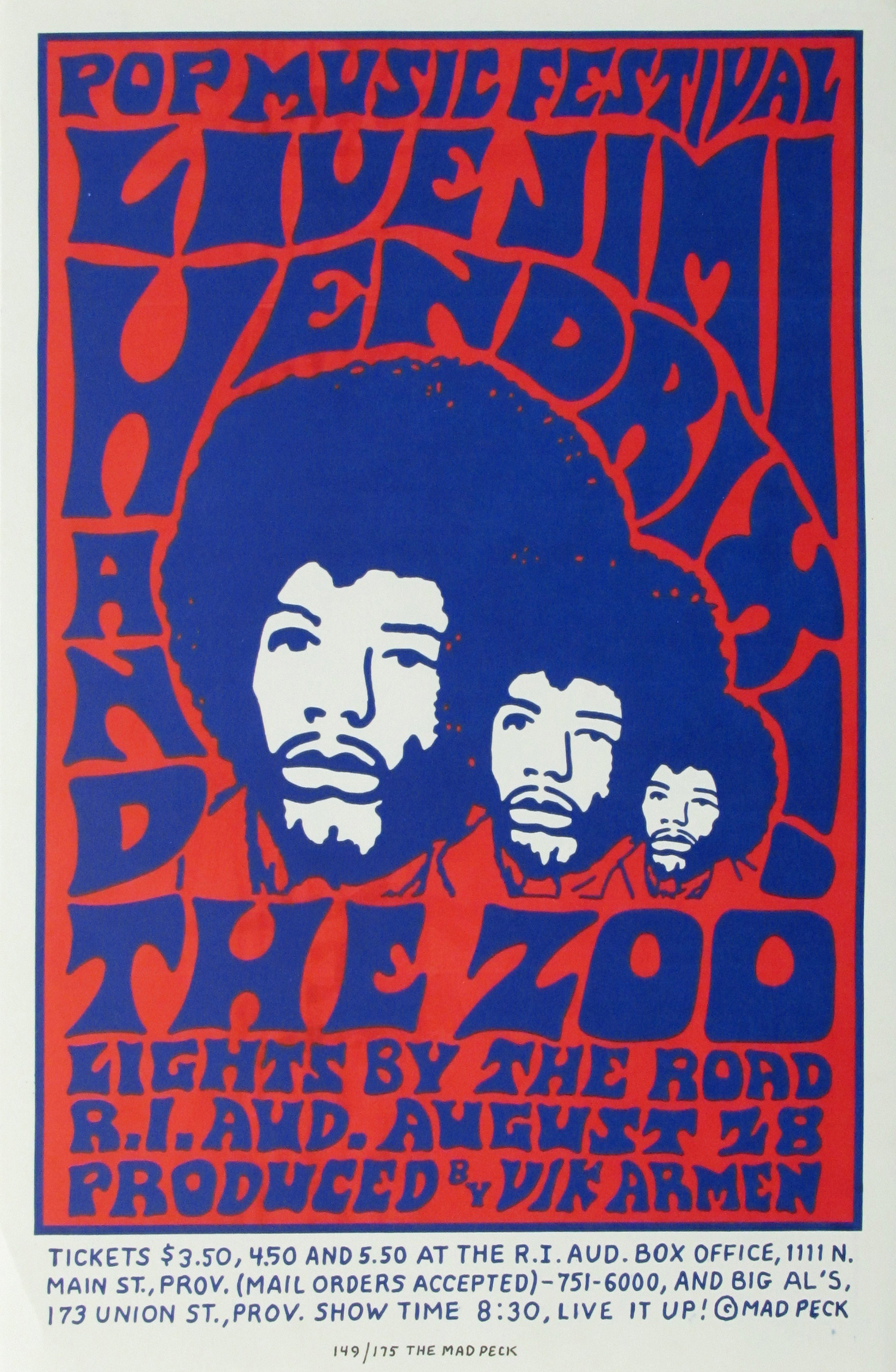 jimi hendrix and the zoo original limited edition concert