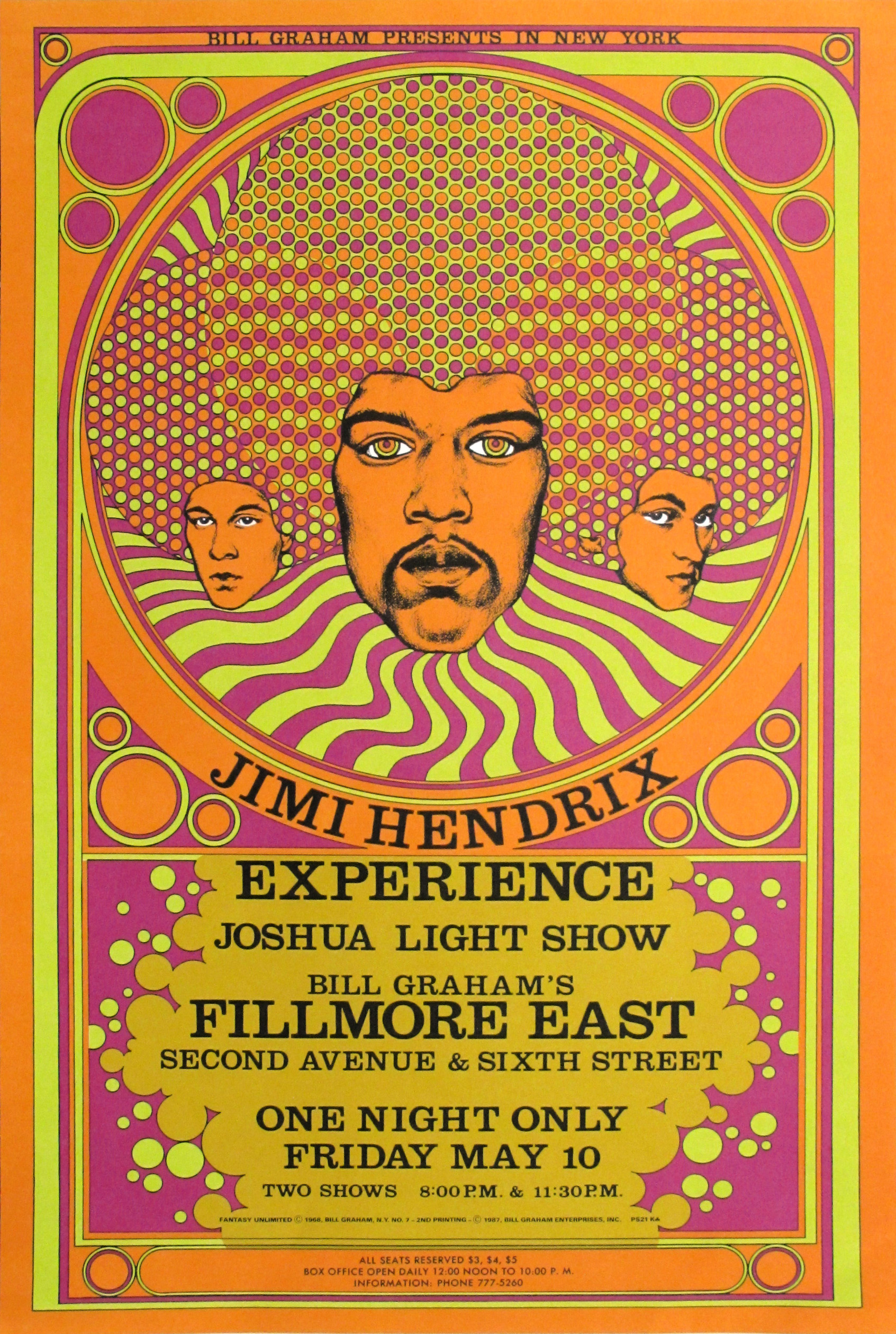 jimi hendrix experience concert poster limited runs
