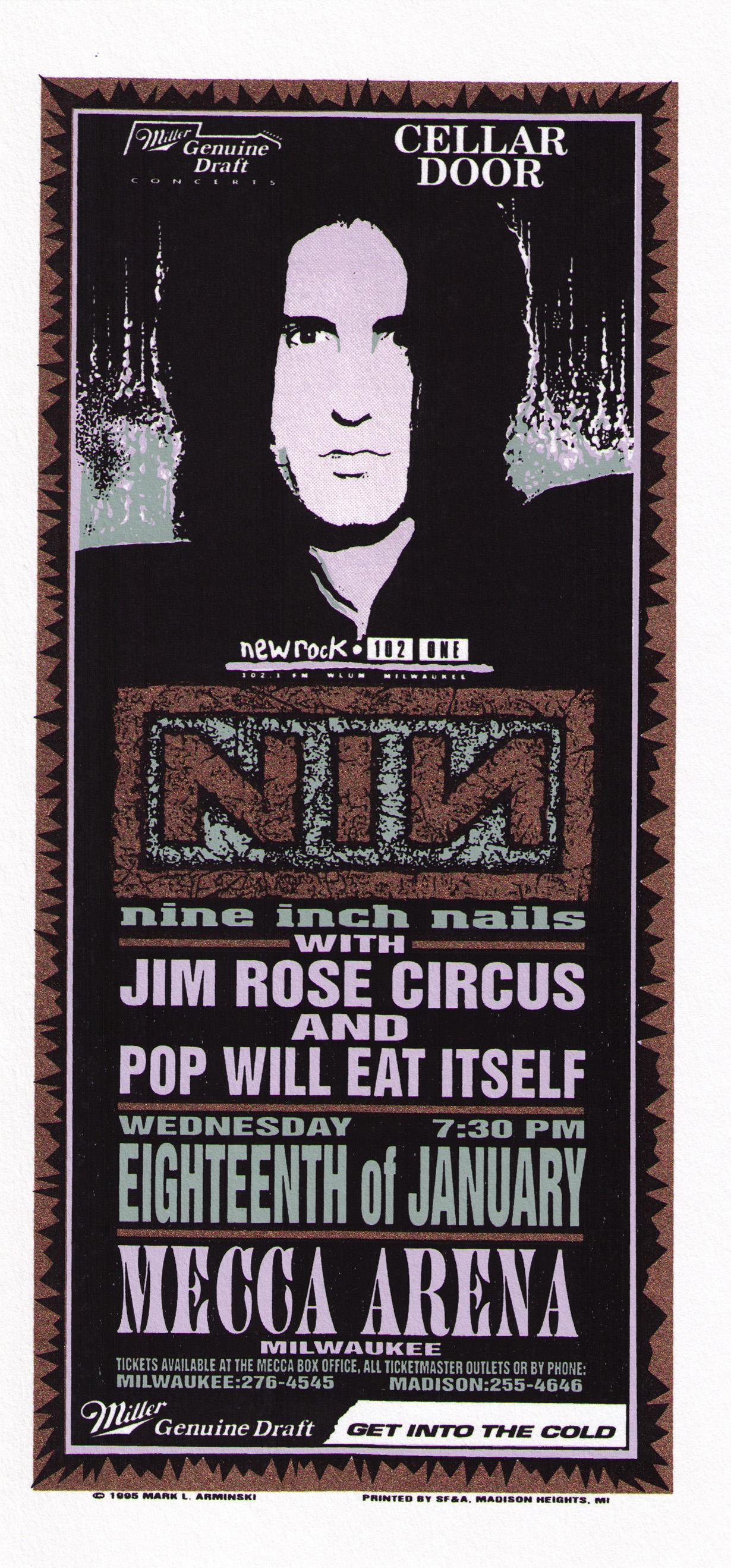 Mark Arminski Nine Inch Nails Original Rock Concert Poster | Limited ...
