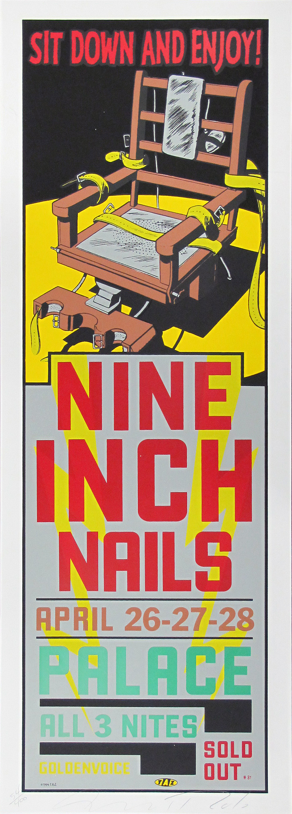 Nine Inch Nails Concert Poster | Limited Runs