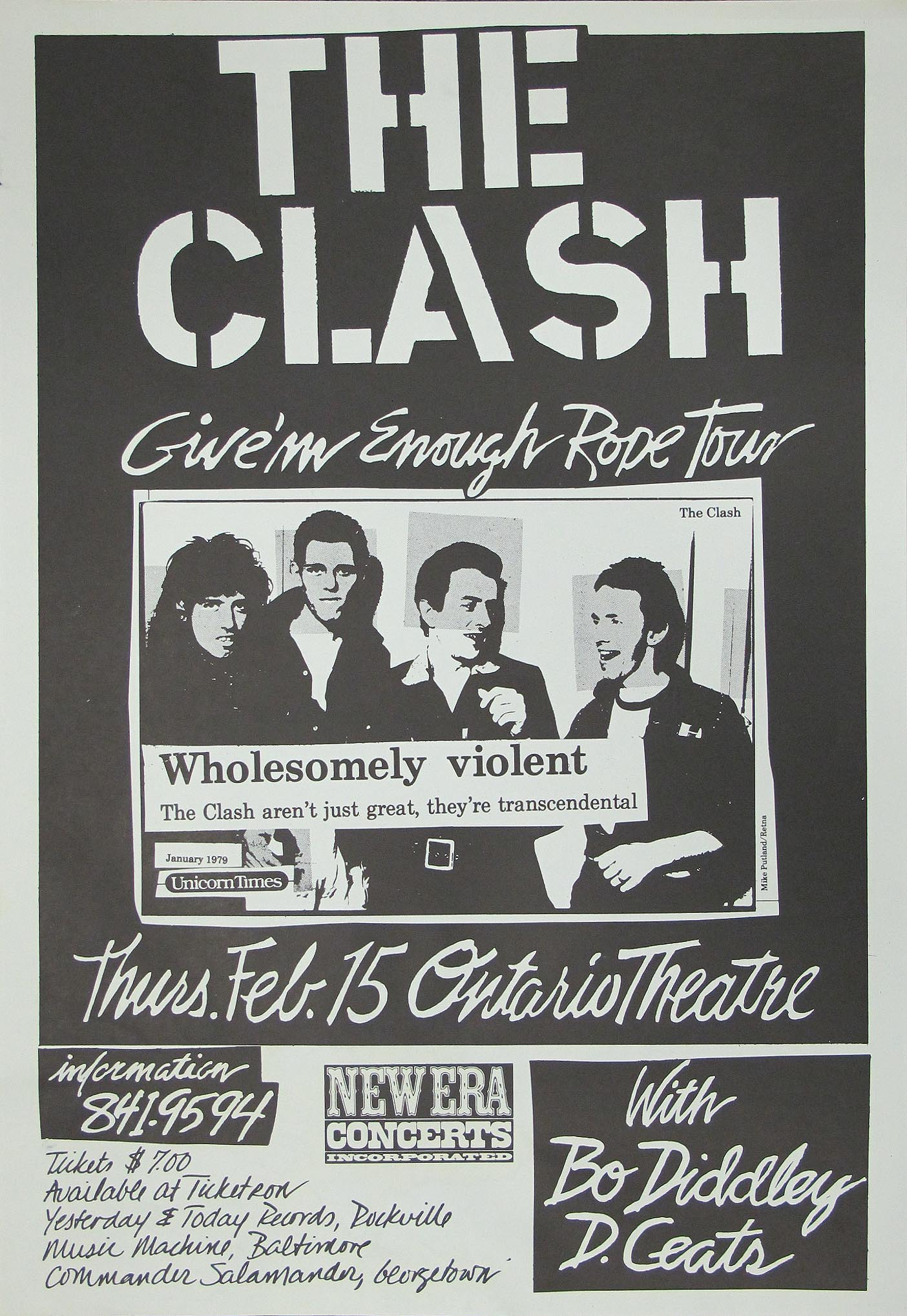 The Clash Original Concert Poster Limited Runs